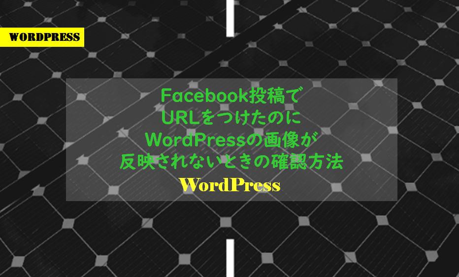 Facebook投稿でURLをつけたのにWordPressの画像が反映されないときの確認方法
